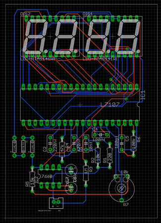 AC Voltmeter Rough Board Layout_
